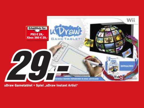 uDraw Studio: Instant Artist + uDraw Gametablet (Wii) ©Media Markt