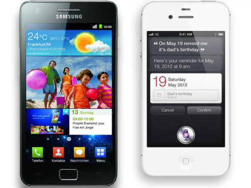 iPhone 4S vs Samsung Galaxy S2 ©COMPUTER BILD/Apple
