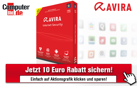 10-Euro-Gutschein für Avira Internet Security 2013 © Avira, computerbild.de
