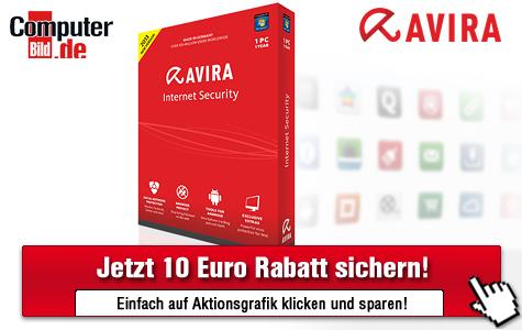 10-Euro-Gutschein für Avira Internet Security 2013 ©Avira, computerbild.de