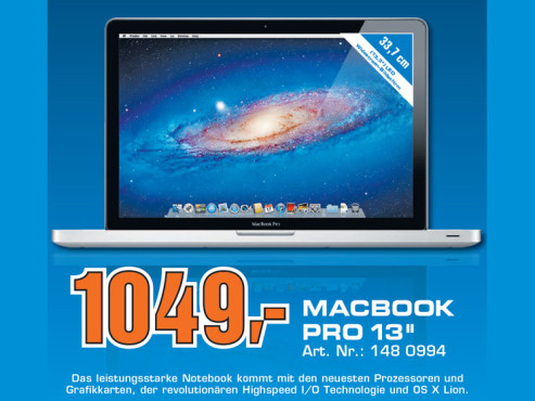 Apple MacBook Pro 13 Zoll (MD313D/A) © Saturn