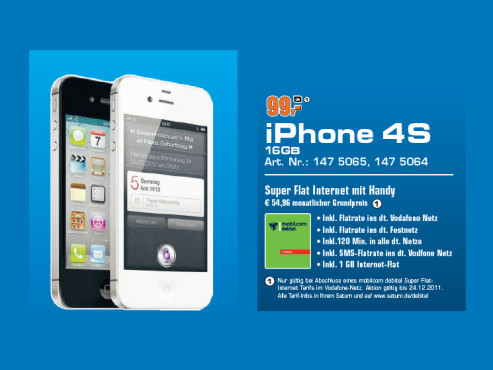 Apple iPhone 4S (16 GB) © Saturn