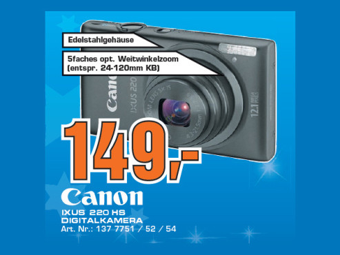 Canon Digital Ixus 220 HS © Saturn