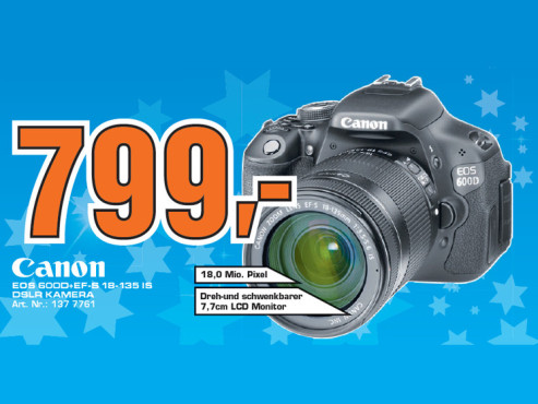 Canon EOS 600D Kit 18-135 mm ©Saturn