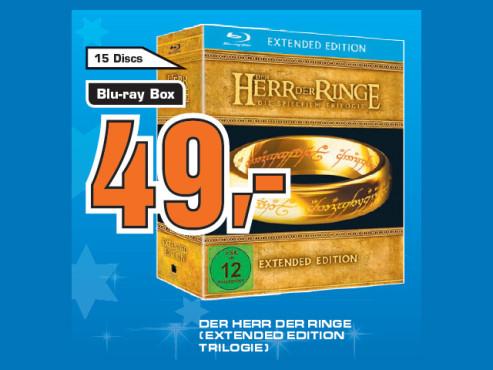 Der Herr der Ringe – Trilogie (Extended Edition, Blu-ray) ©Saturn