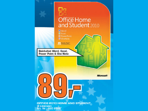 Microsoft Office 2010 Home and Student (Win) (DE) ©Saturn