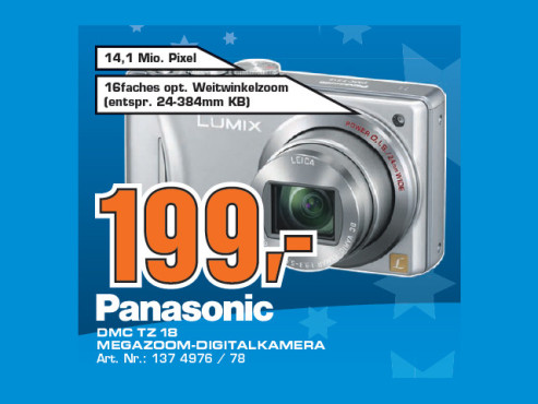 Panasonic Lumix DMC-TZ18 © Saturn