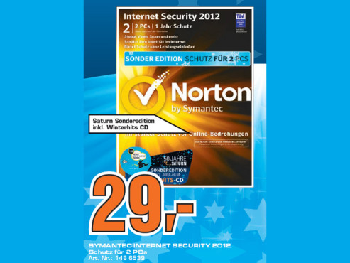 Symantec Internet Security 2012 (zwei Lizenzen) © Saturn
