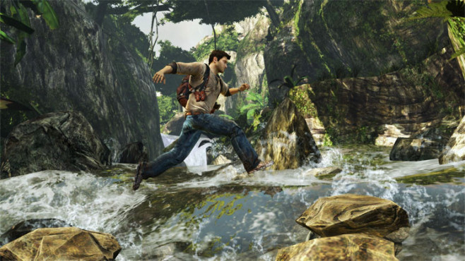 Actionspiel Uncharted – Golden Abyss: Wasserfall © Sony