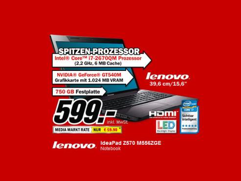 Lenovo IdeaPad Z570 M556ZGE ©Media Markt