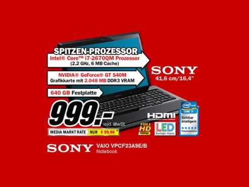 Sony Vaio VPCF23A9E/B ©Media Markt