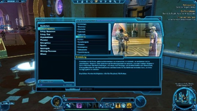Online-Rollenspiel Star Wars � The Old Republic: Crew-Skills © Electronic Arts