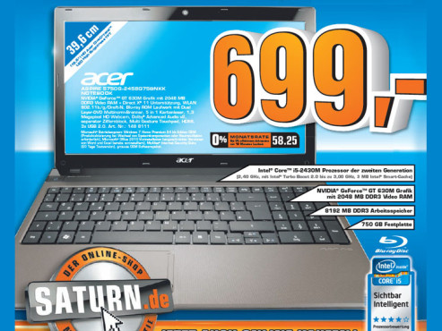 Acer Aspire 5750G-2458G75BNKK ©Saturn