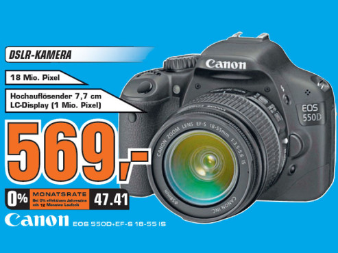 Canon EOS 550D Kit 18-55 mm © Saturn