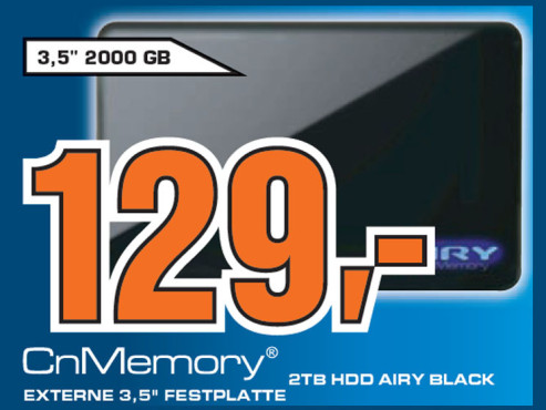 CnMemory 3.5 Airy USB 2.0 2TB © Saturn