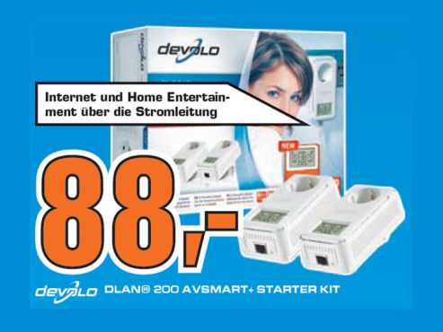Devolo dLAN 200 AVsmart+ Starter Kit © Saturn