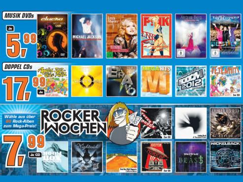 Diverse Musik-CDs/-DVDs, Rocker-Wochen bei Saturn ©Saturn