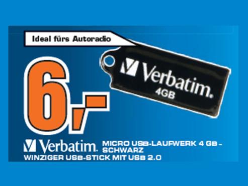 Verbatim Micro USB-Laufwerk 4 GB ©Saturn