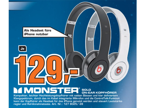 MonsterCable Beats Solo by Dr. Dre with Control Talk © Saturn