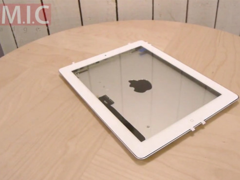 Apple iPad 3 oder iPad HD? ©http://micgadget.com/22967/hands-on-with-ipad-3-front-glass-rear-shell-and-cases-video