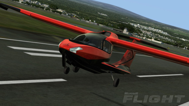 Simulation Microsoft Flight: Icon A5 beim Start © Microsoft