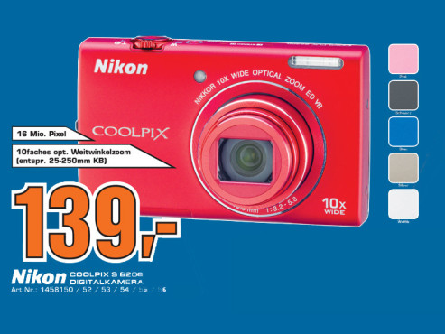 Nikon Coolpix S6200 ©Saturn