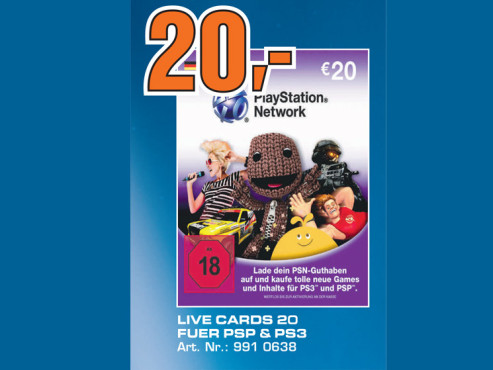 Sony PlayStation Network Card ©Saturn