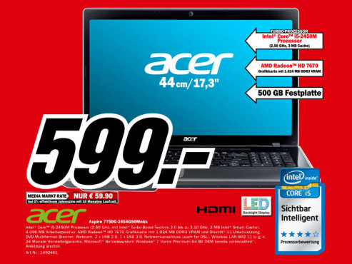 Acer Aspire 7750G-2454G50Mnkk ©Media Markt