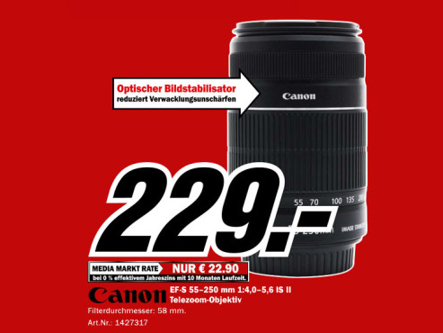 Canon EF-S 55-250mm f4.0-5.6 IS © Media Markt
