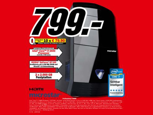 Microstar Professional i74000 ©Media Markt