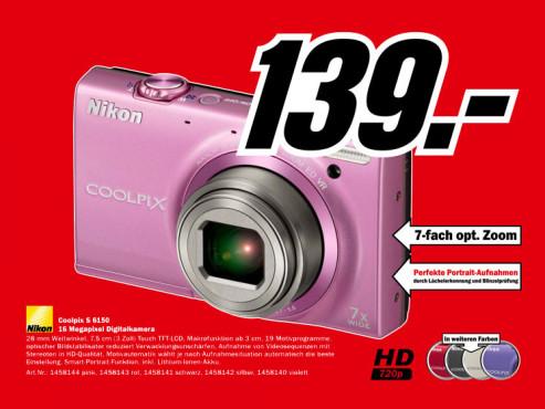 Nikon Coolpix S6150 ©Media Markt