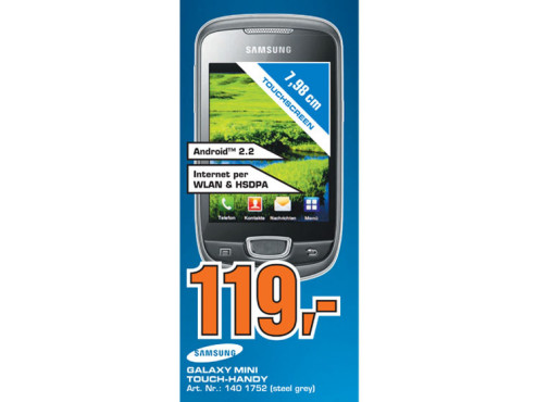 Samsung Galaxy Mini S5570 © Saturn