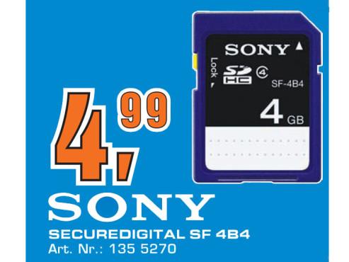 Sony SDHC Card 4 GB Class 4 ©Saturn