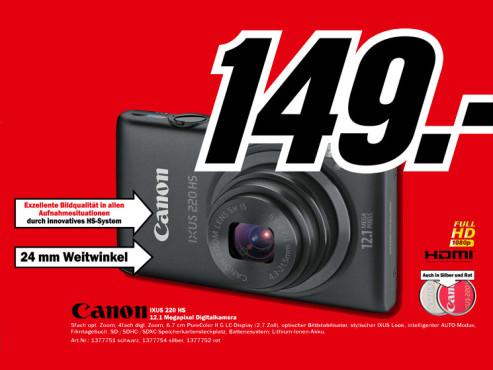 Canon Digital Ixus 220 HS ©Media Markt