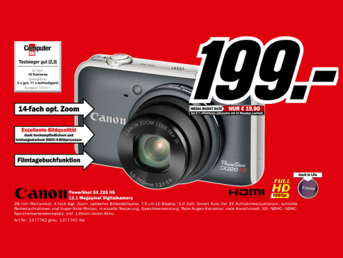 Canon PowerShot SX220 HS ©Media Markt