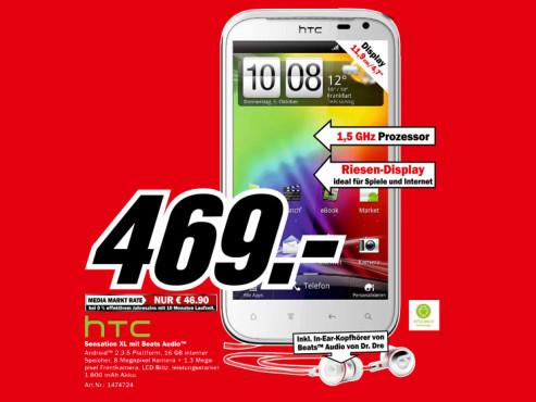 HTC Sensation XL ©Media Markt