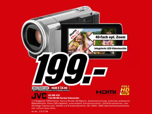 JVC GZ-HM435 ©Media Markt
