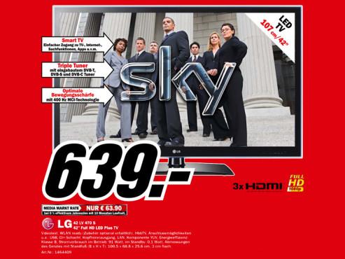 LG Electronics 42LV470S ©Media Markt