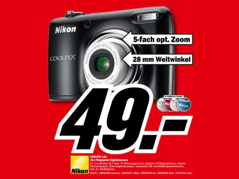 Nikon Coolpix L23 ©Media Markt