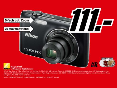 Nikon Coolpix S4150 ©Media Markt