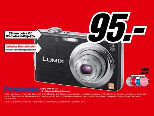 Panasonic Lumix DMC-FS16 ©Media Markt