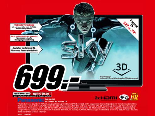 Panasonic TX-P50UT30E ©Media Markt