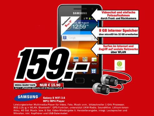 Samsung Galaxy S Wifi 3.6 ©Media Markt