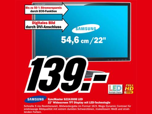 Samsung SyncMaster S22A300B ©Media Markt