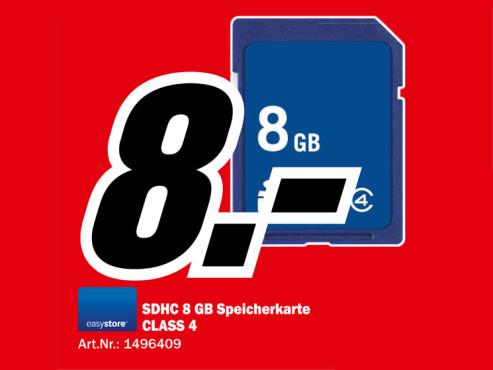 Sandisk Easystore SDHC 8GB Class 4 ©Media Markt