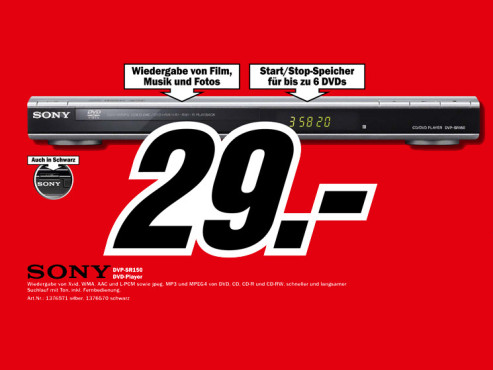 Sony DVP-SR150 ©Media Markt