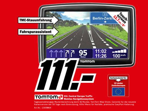 TomTom XXL IQ Routes Central Europe Traffic ©Media Markt