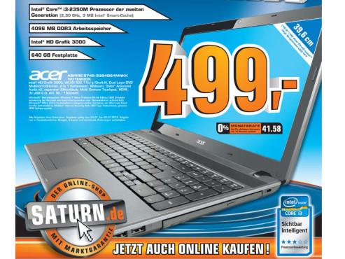 Acer Aspire 5749-2354G64MNKK ©Saturn