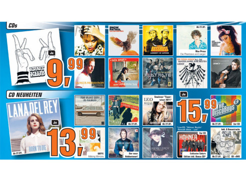 CDs, CD-Neuheiten ©Saturn