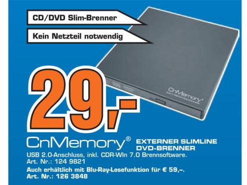 CnMemory Portable DVD-Recorder ©Saturn